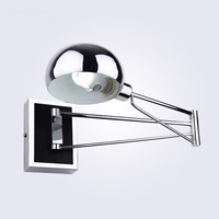LED Wall Lamps Simple Bedside Wall Lamp With Switch Chrome Flexibility Wall Lights Reading Light Indoor Lighting mx5031537