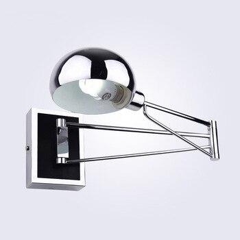 Lampy ścienne LED proste lampy lampki nocne ściany lampa z przełącznikiem Chrome elastyczność kinkiety światła do czytania oświetlenie wewnętrzne mx5031537