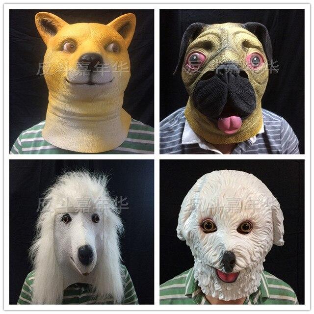 High Fashion zarte Farben 2019 echt US $15.46 9% OFF|Hund Kopf Latex Maske Vollmaske Atmungs Halloween  Maskerade Abendkleid partei Cosplay Mops Hund Maske Weiße hund maske in  Hund Kopf ...