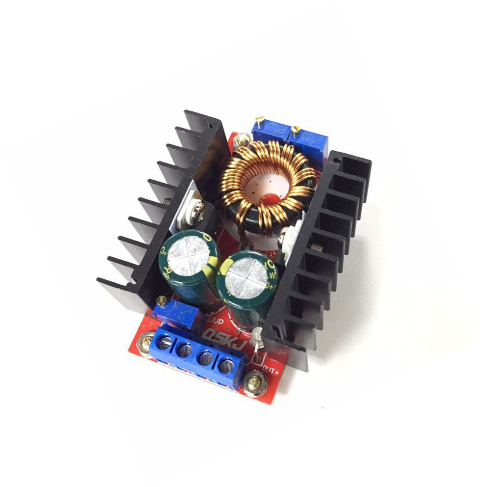 1PCS 10A 150W DC-DC Boost Converter 10-32V to 12-35V 10A Step-Up Power Supply Module 1pcs 1500w 30a dc dc cc cv boost converter step up power supply charger adjustable dc dc booster adapter 10 60v to 12 90v module