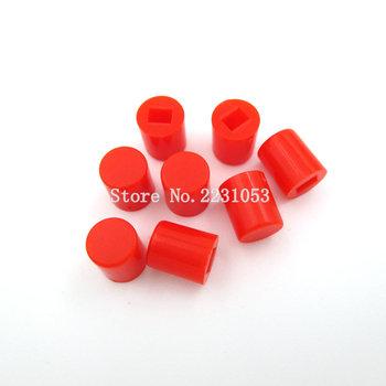 50 sztuk partia dotykowy przełącznik wciskany 6X7 6*7mm ma zastosowanie do 8 5*8 5mm 8*8mm samoblokujący przełącznik przycisk Cap czerwony kolor tanie i dobre opinie 6X7MM WEIDILY