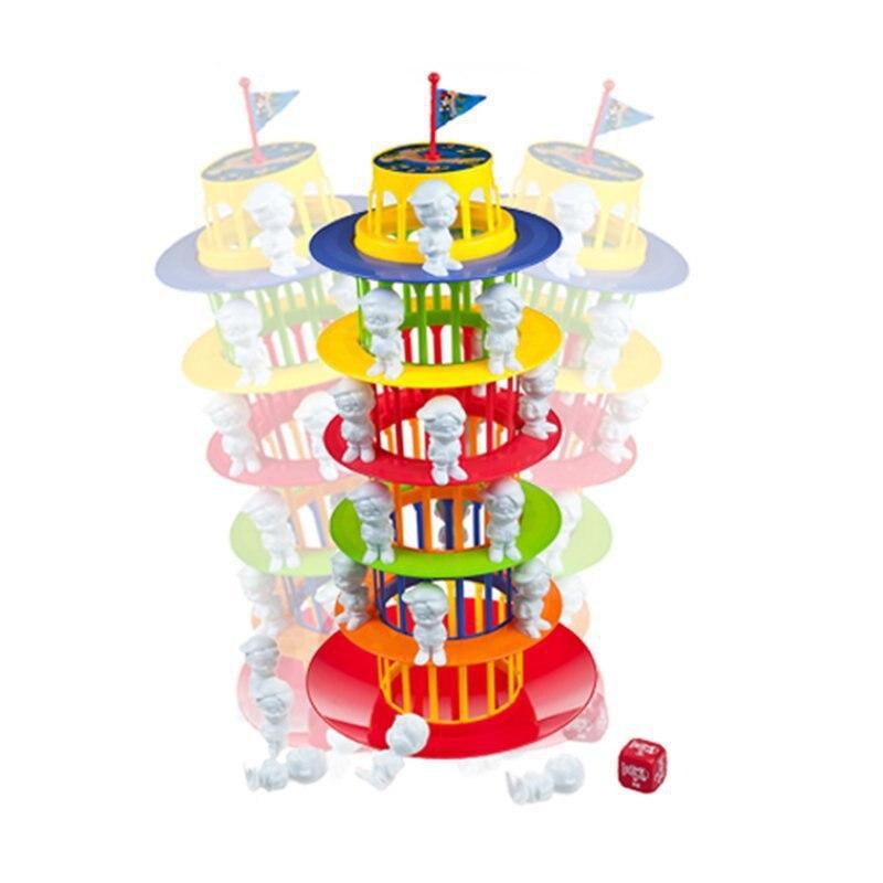 Shaky pise tour jeux de société pour enfants fou colonne Boom famille jeu enfants fête d'anniversaire fournitures Kid jouets meilleur cadeau