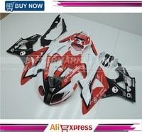 Custom Design Body Parts For BMW S1000RR Fairing Kits S1000RR Bodywork S1000RR 09 13 Body Kits For BMW RED AND WHITE