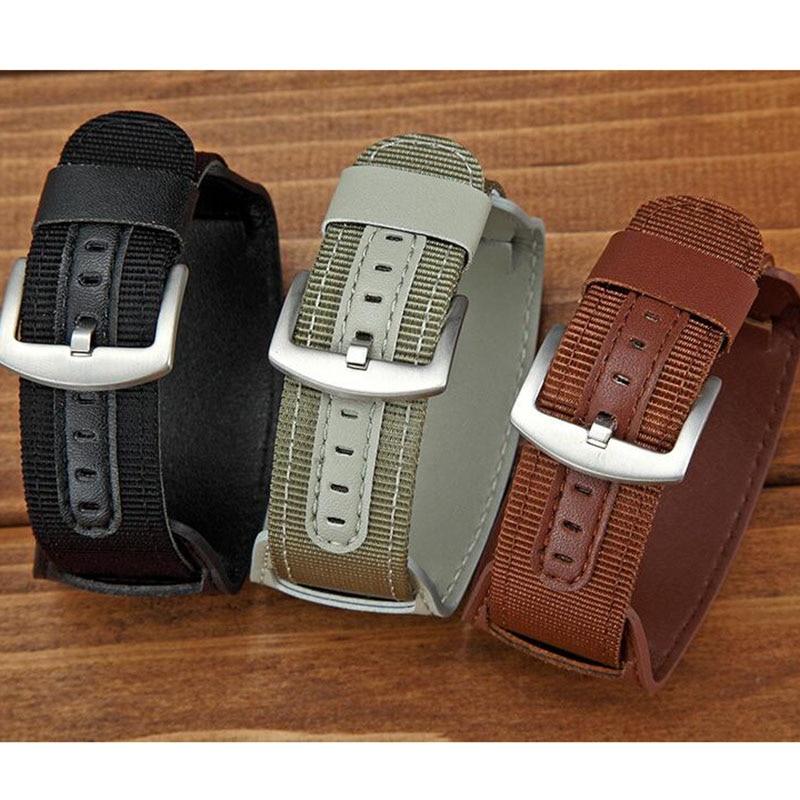 Universal Nylon Armband Leder Futter Armband 18mm 20mm 22mm 24mm - Uhrenzubehör - Foto 2