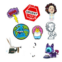 1 PCS Icons on Backpack Acrylic Badges Badges for Clothes Kawaii Badge Icon Pin Brooch