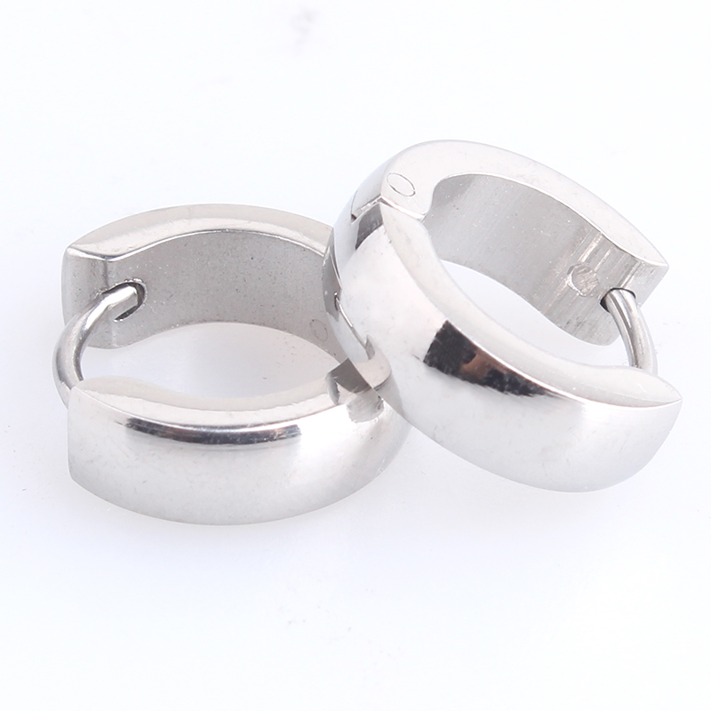 free shipping 4mm Silver Smooth 316L Stainless Steel Stud Earrings for men women wholesale