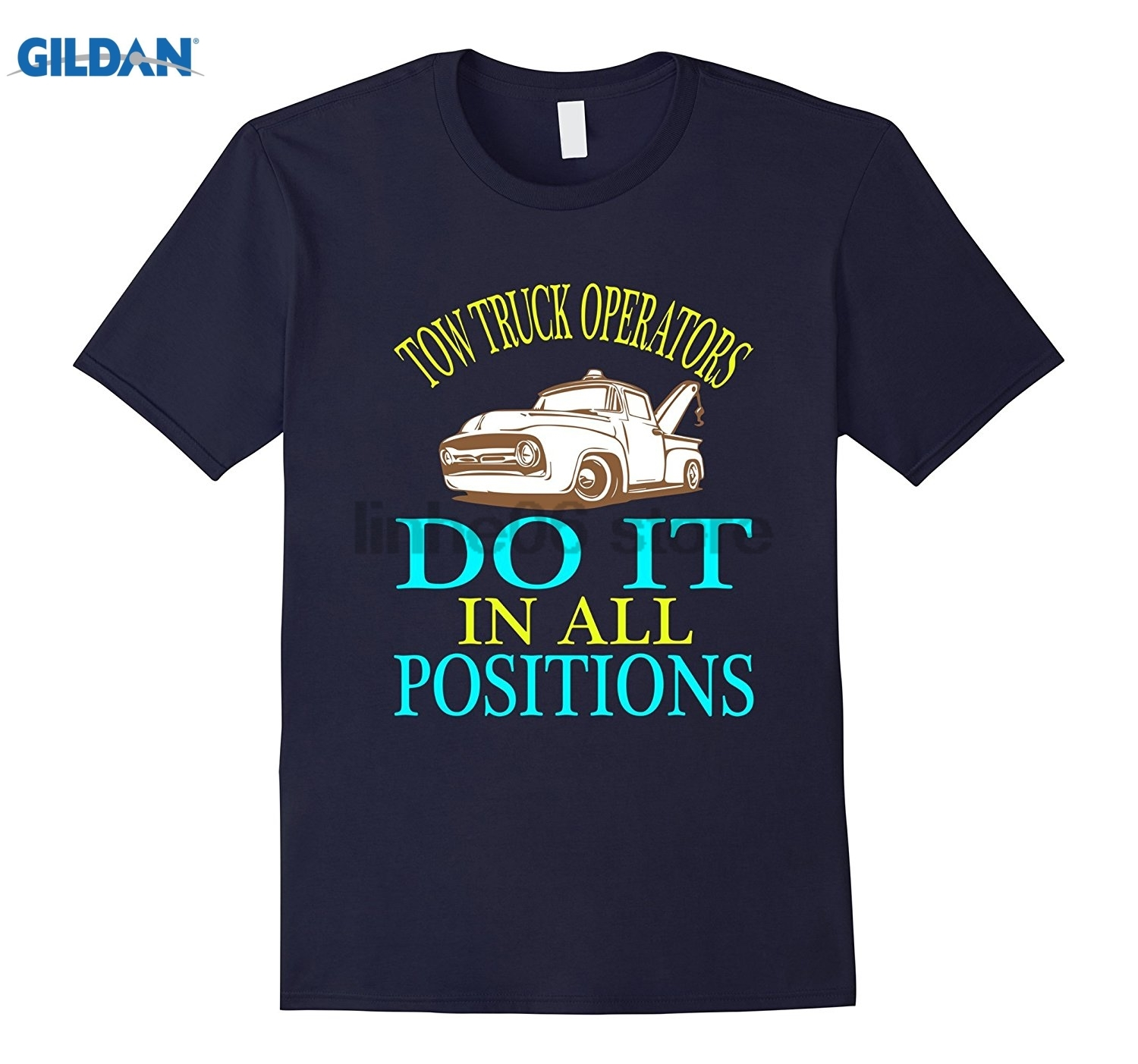 GILDAN Funny Tow Trucks Operators T-shirt Fathers Day Birthday Gift