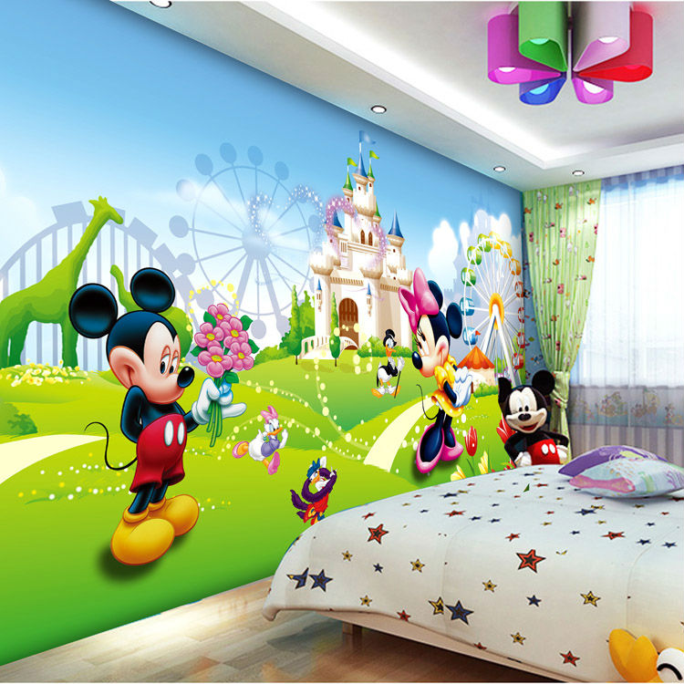 Lovely Mickey Minnie Photo Wallpaper 3d Wall Mural Cartoon