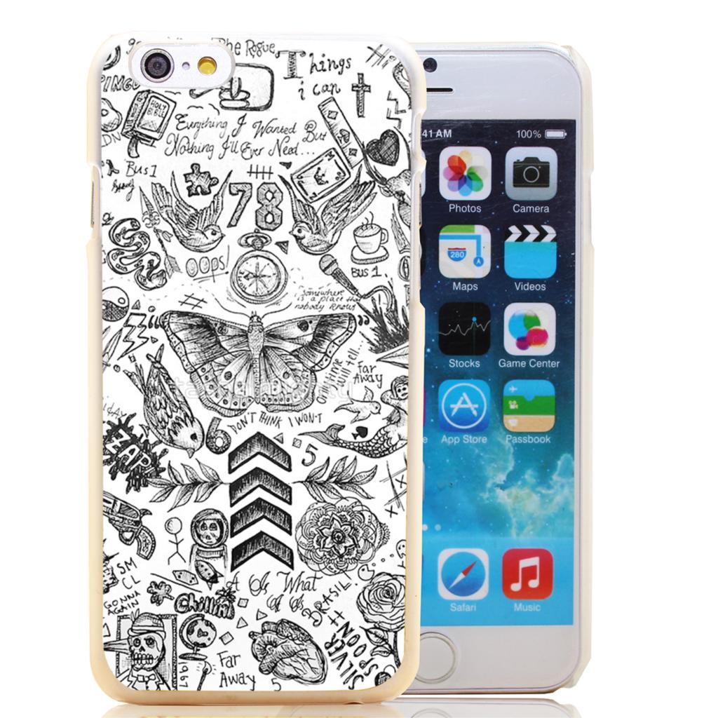 697-HOQE Harry Estilos De Tatuaje De One Direction Transparent Hard Case Cover for iPhone 6 6s plus 5 5s 5c 4 4s Phone Cases