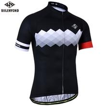 SIILENYOND ด่วนขี่จักรยาน Jerseys ฤดูร้อนแขนสั้น MTB จักรยานขี่จักรยานเสื้อผ้า Ropa Maillot Ciclismo แข่งจักรยานเสื้อผ้า