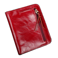 Bright Oil Style Genuine Leather Zipper Penny Package Small Change Restore Ancient Ways Hasp Women S