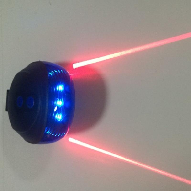 Bike Night Ride Warning Light 5 Blue LED 2 Laser Beam ...