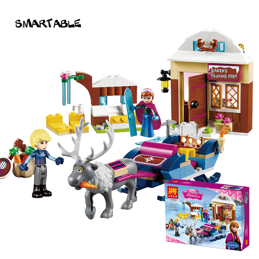 Smartable 208pcs Princess Anna and Kristoff s Sleighfigure Building Block figures font b toys b font