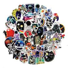 50pcs/lot Astronaut universe Stickers Classic Japan Anime Sticker Modern Popular Laptop Luggage Car Skateboard Phone(China)