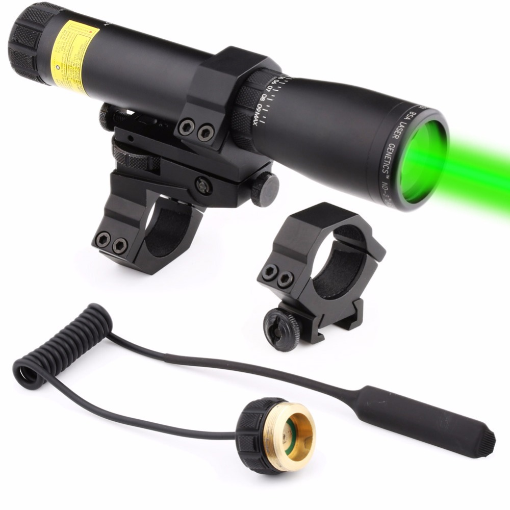 VERY100 NEW Tactical ND3x30 Genetics Long Distance Green Laser Designator w/ Ring Mounts цена и фото