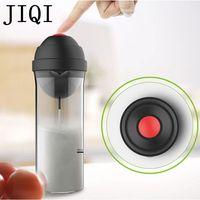 JIQI Household Electric Milk Foam Bubble Maker Fancy Coffee Milk Frother Foamer DIY Egg Cream Mixer