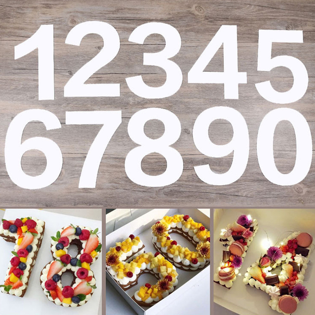 1012inch Pet Plastic 0 8 Numbers Cake Mold Cake Decorating Tools