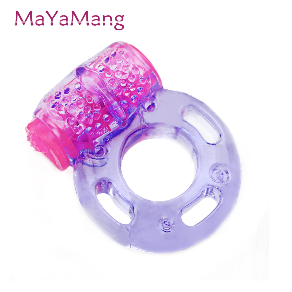 Vibrating Cock Ring Stretchy Delay Penis Rings Intense Clit Stimulation Sexy Toy For Couples Batteries included