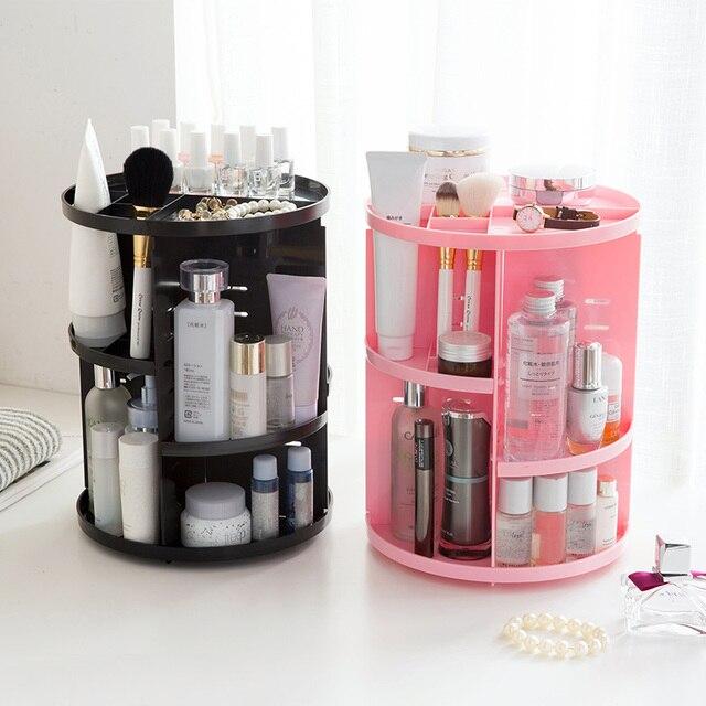 Rotating Cosmetics Shelf Dressing Table Storage Box Desktop Putting Skin Care Plastic Rack