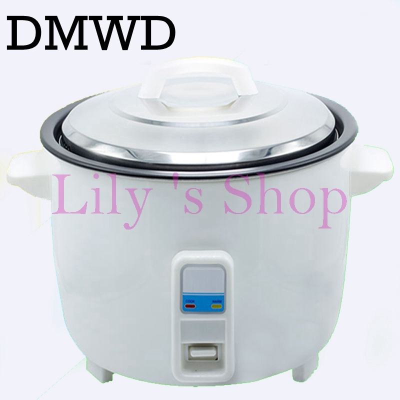 DMWD Large capicity electric rice cooker steamer non-stick hot rice pot 10L 110V 220V restaurant Cooking Machine keep warm EU US 110v 220v dual voltage travel cooker portable mini electric rice cooking machine hotel student multi stainless steel cookers