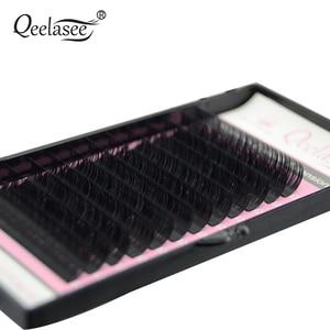 Image 2 - Qeelasee 4 gevallen 0.07 3D volume mink individuele wimper extension faux cils make up wimpers maquiagem cilios Korea materiaal