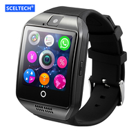 SCELTECH Bluetooth Smart Watch Q18 With Camera Facebook Whatsapp Twitter Sync SMS Smartwatch Support SIM TF