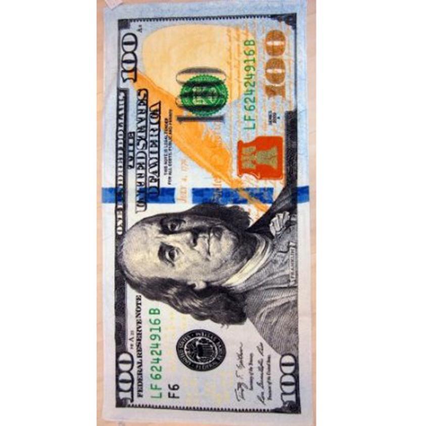 El Viernes Negro VOT7 vestitiy nuevo billete de 100 dólares de terciopelo brasileño Toalla de playa 30x60 pulgadas 10 de agosto
