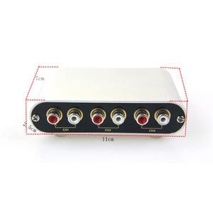 Image 4 - Lusya 3 Ingresso 1 Uscita/Ingresso 1 3 Uscita RCA Audio Selettore di Segnale di Ingresso Interruttore A Distanza Per Amplificatore con a distanza di Controllo D1 003
