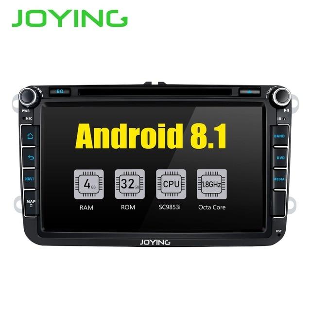 JOYING Octa core 4 GB 8 ''Android 8 Radio samochodowe Stereo z carplay dla Skoda szybkiej SuperB radioodtwarzacza player dla GOLF PASSAT NO DVD