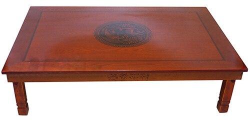 Korean Floor Table Folding Legs Rectangle 120*80CM Asian Antique Furniture Living Room Low Wooden Table For Dining &Tea