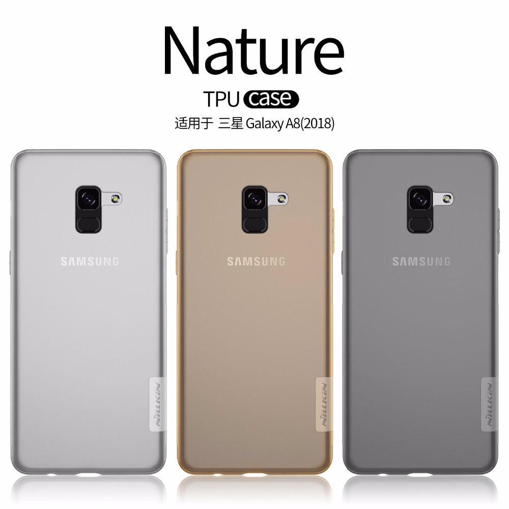 NILLKIN Nature TPU soft back cover Case For Samsung A8 2018 / A8 Plus 2018 clear Transparent case with retailed packageNILLKIN Nature TPU soft back cover Case For Samsung A8 2018 / A8 Plus 2018 clear Transparent case with retailed package