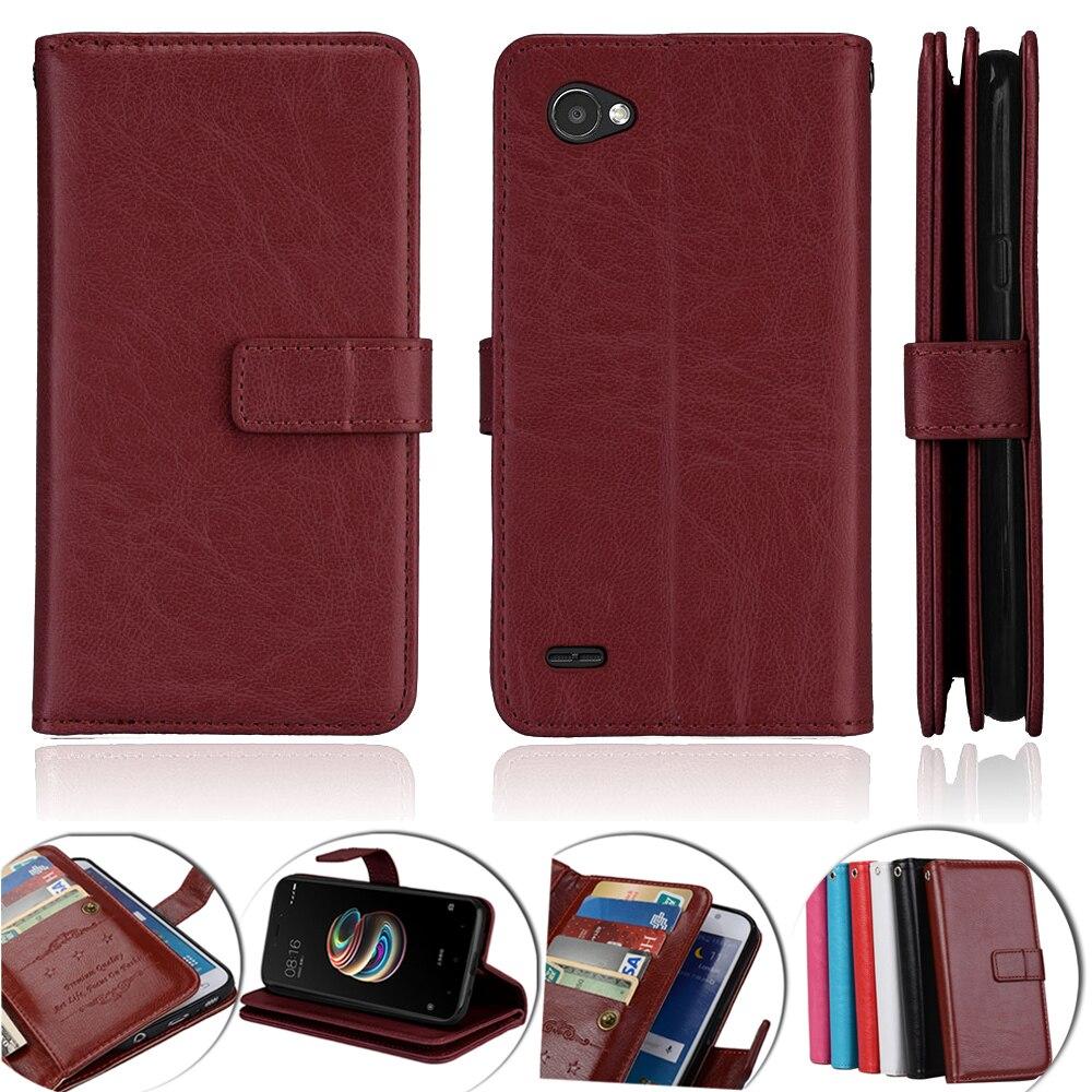 Luxury Phone Case For LG Q6 Case Cover Leather Wallet Flip Cover For LG Q6 Alpha M700 Q6 Plus X600 Phone Case Cover Fundas Coque