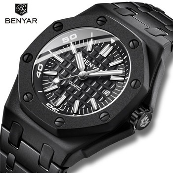 BENYAR Neue Kreative männer Uhren Lässige Mode/30 M Wasserdicht/Business Uhr Männer Edelstahl Armbanduhr Herren reloj hombre