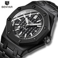 BENYAR Neue Kreative männer Uhren Lässige Mode/30 M Wasserdicht/Business Uhr Männer Edelstahl Armbanduhr Herren reloj hombre-in Quarz-Uhren aus Uhren bei