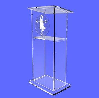 Fixture Displays Clear Acrylic Lucite Podium Pulpit Lectern 45 Tall fixture displays clear acrylic lucite podium pulpit lectern 45 tall