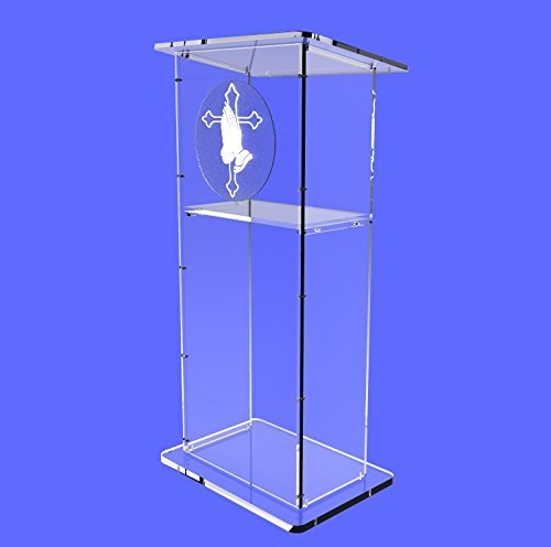 "Fixture Displays Clear Acrylic Lucite Podium Pulpit Lectern 45"" Tall"