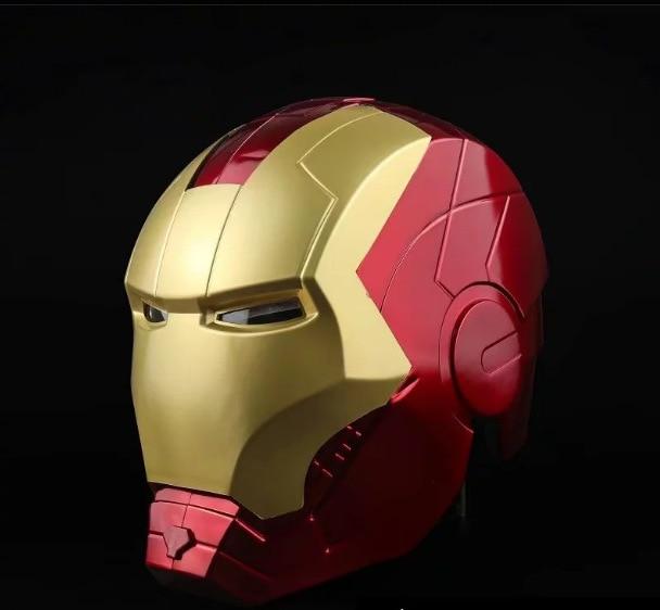 Marvel Avengers Iron Man Helmet Cosplay 1 1 Light Led Ironman Mask PVC Action Figure Toys