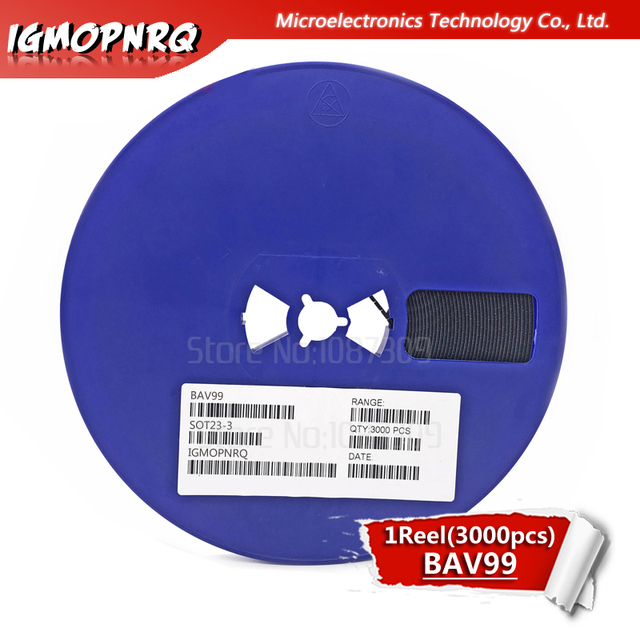 3000pcs BAV99LT1G SOT23 BAV99 A7 SOT BAV99LT SOT 23 Dual Serie Switching Diode nieuwe en originele IC