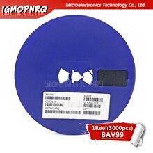 3000pcs BAV99LT1G SOT23 BAV99 A7 SOT BAV99LT SOT 23 Dual Series การเปลี่ยนไดโอดใหม่และต้นฉบับ IC