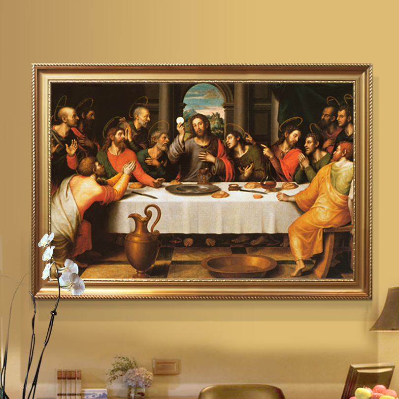 Christmas decorations for home Jesus Christ Painting of The Last Supper poster and print canvas wall