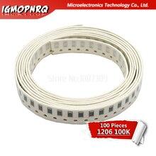 100PCS 1206 SMD Resistor 5% 100K ohm chip resistor 0.25W 1/4W 104