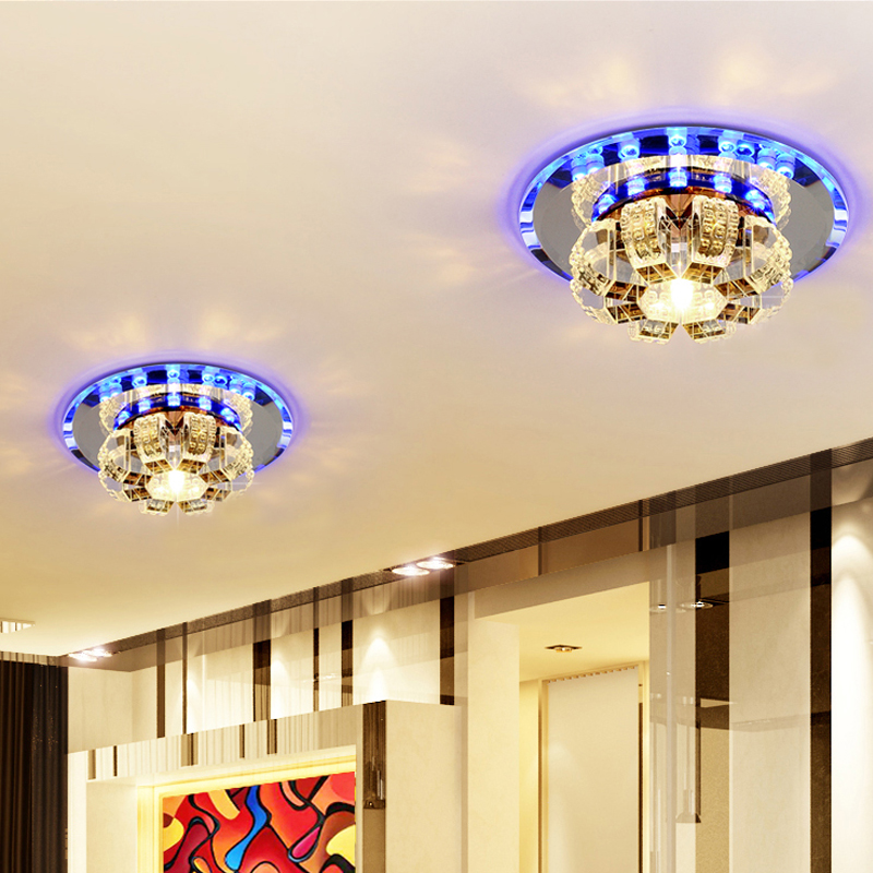Corridor Mirror Ceiling Lamp Aisle Veranda Lighting Contemporary Crystal Surface Mounted LED Ceiling Lights For Living Room L96 amber crystal ceiling lamp led aisle lights plafonnier corridor balcony lighting luster luminaria teto cristal for home decor