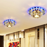 Corridor Mirror Ceiling Lamp Aisle Veranda Lighting Contemporary Crystal Surface Mounted LED Ceiling Lights For Living Room L96