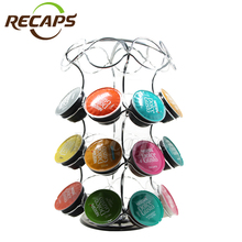 Dolce gusto capsule holder Revolving 32pcs capsules organizer Iron holder rack stand 360 Degree Rotating Non-slip Base
