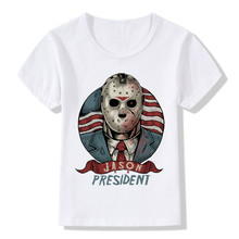 2017 Jason For President Print Children T-Shirts Summer Boys and Girls Clothes Kids Tops Baby Punk Skull Cool T-Shirt,HKP2077