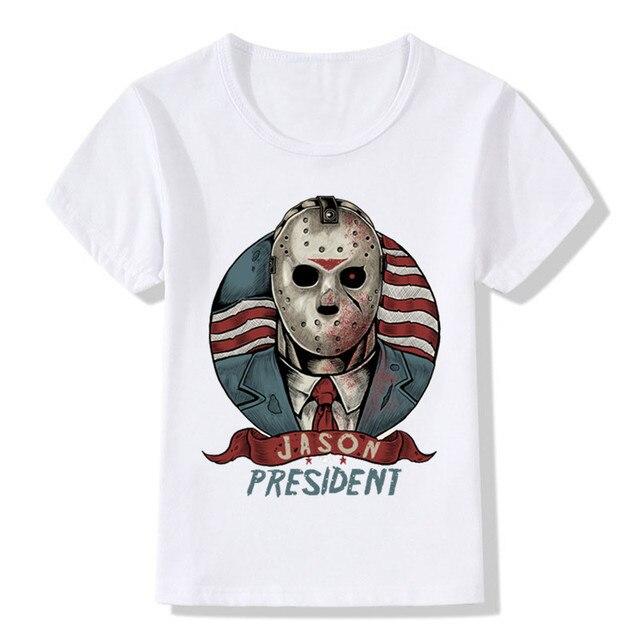 2018 Jason para Presidente imprimir niños camiseta niños y niñas de ...