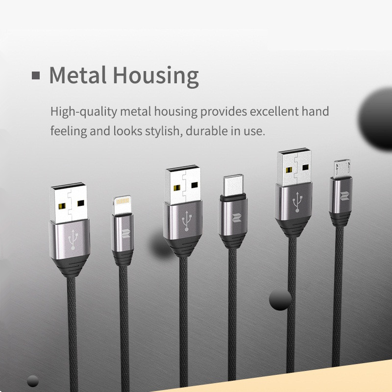 rockspace metal type c cable for xiaomi durable nylon braided wire rh aliexpress com