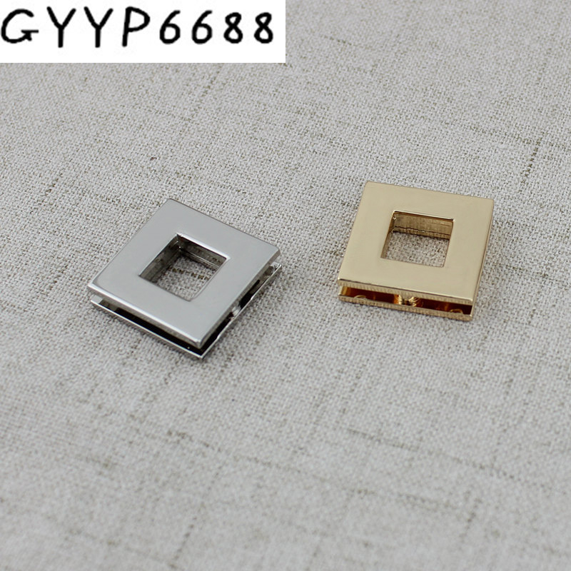 10pcs 50pcs 10mm High Quality Chrome Grommets Square Screw Eyelets For Canvas Leather Self Backing Purse Buckle Luggage Hardware