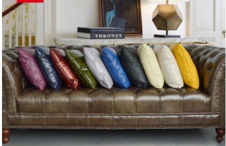 De luxe pu en cuir taie d'oreiller couverture personnalisée canapé salon grand pu couverture pour oreiller coussin décoratif