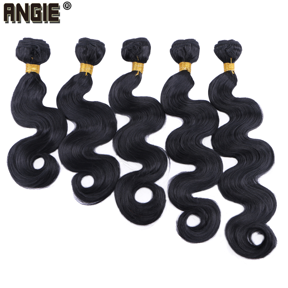 Angie 100 Gram/pcs Body Wave Synthetic Hair Bundles 16-24 Inch Available Curly Wavy Hair Style Tissage Synthetic Hair Products